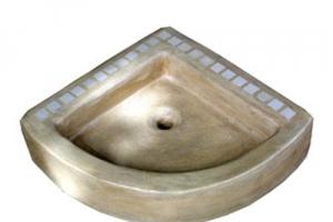 Waschbecken/Sabbia  Schenkellänge: 45cm,H:13cm