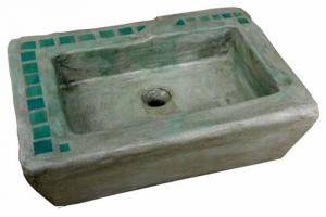 Waschbecken / Smaragd 54x40x13 cm