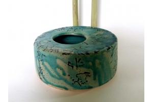 Ikebana Vase  Türkis Ø 15,5 cm