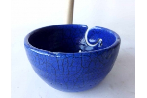 Garnschale in Raku / Blau