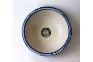 Waschbecken / Elfenbein-beige Ø 37 cm Höhe 14 cm