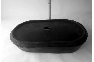 Waschbecken-oval / Black Ø 54/34 cm H 10 cm