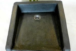 Waschbecken / Schwarz / Breite 51 cm / Tiefe 53 cm Höhe 16 - 11 cm