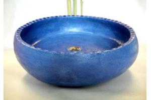 Waschbecken / Königsblau mit Rakumosaik Ø 50 cm Höhe ca. 15 cm