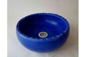 Waschbecken / blue mit Mosaik  Ø 30 cm Höhe ca. 12 cm