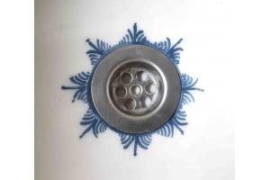 Waschbecken / weiß/blau Ø 37x20 cm Höhe  15 cm
