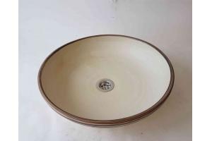 Waschbecken / Elfenbein Ø 39 cm Höhe 9,5 cm