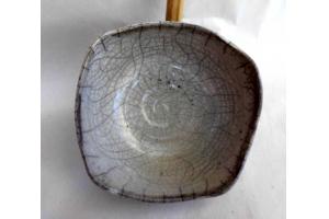 Schale in Raku/Weiß Ø 20 cm