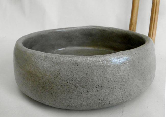 waschbecken in grau 30 cm keramikatelier sch ning. Black Bedroom Furniture Sets. Home Design Ideas