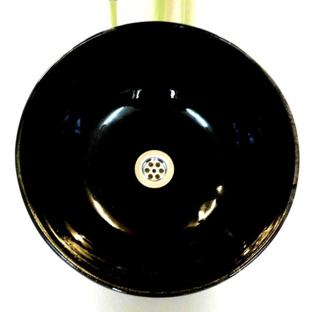 waschbecken schwarz streif 38 cm h he 14 cm. Black Bedroom Furniture Sets. Home Design Ideas