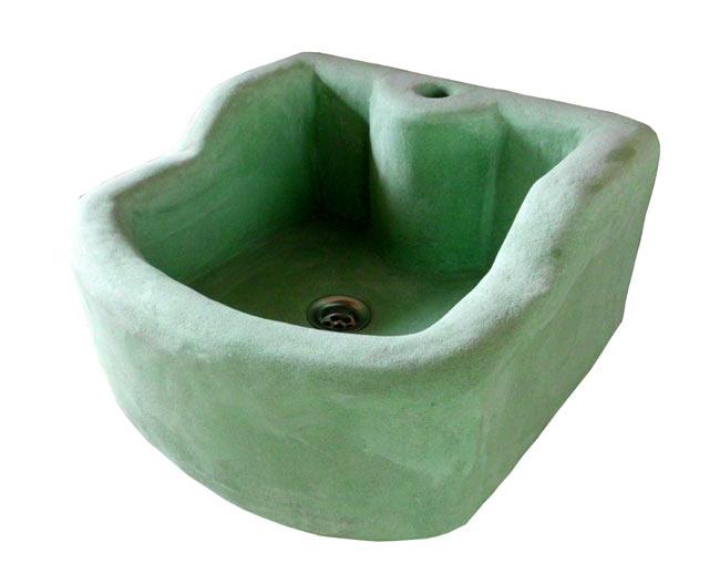 waschbecken turckese 58 x 40 x 17 cm keramikatelier sch ning. Black Bedroom Furniture Sets. Home Design Ideas