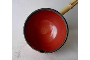 Garnschale Rot/Braun