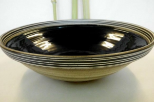 Große Salat Schale scharz Ø 40 cm