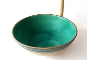 Salat Schale / türkis Ø 26 cm H10,5