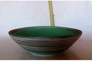 Salat Schale Oliv grün Ø 40 cm Höhe 11,5 cm