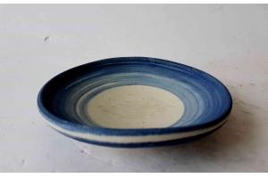Seifenschale Blau-Beige