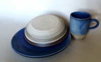 Teller-Tassen Set / Blau