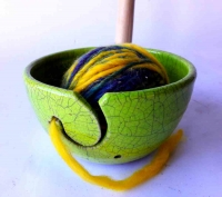 Garnschale in Raku / Limette