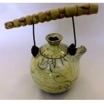 Teekanne / Raku / Bambu/Gelb 1000ml