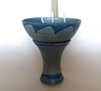 Kerzenreste Schmelzlicht 3-Flammen/ Blau Groß
