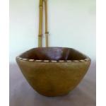 Waschbecken-oval / Ombra mit Mosaik Ø 39/25 cm H 14 cm