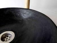 Waschbecken / Schwarz 32 cm Höhe 9 cm