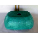 Waschbecken-oval / türkis/blau mit Mosaik Ø 39/25 cm H 14 cm