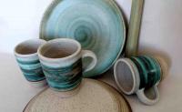 Teller-Tassen Set / Zart-Grün