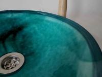 Waschbecken / ägyptisch/grün Ø 34 cm Höhe 9 cm