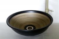 Waschbecken / Schwarz-grau Ø 36 cm Höhe 13 cm