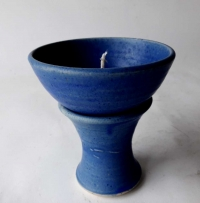 Kerzenreste Schmelzlicht / Blau