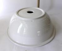 Waschbecken / weiß-creme / Bordüre  Ø 38 cm Höhe 14 cm