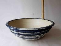 Waschbecken / Beige-Blau Ø 41 cm Höhe: 11 cm