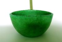 Waschbecken Oval / Grasgrün Ø 30/25 cm Höhe 15 cm
