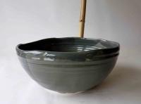 Ovales Waschbecken / Grau Ø 32/27 cm Höhe 13,5 cm