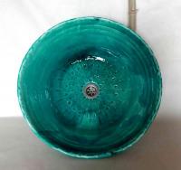 Waschbecken / ägyptisch-grün / Bodenmuster Ø 50 cm Höhe 16 cm