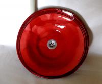 Waschbecken / Rot / schwarz Ø 42 cm Höhe 10 cm