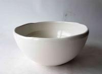 Waschbecken / weiß-creme Ø 27 cm Höhe 13 cm