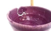Garnschale in Raku / Lavendel
