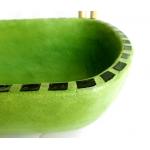 Waschbecken-oval / Limette mit Mosaik Ø 39/25 cm H 14 cm