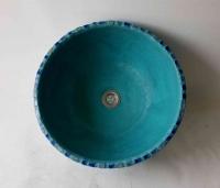 Waschbecken / Kalypso2 / blaues Mosaik Ø 40 cm H 15 cm