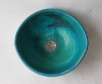 Ovales Waschbecken / Karibik Ø 28/27 cm Höhe 13 cm