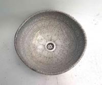 Waschbecken / Oval/ Raku Ø 33/30 cm Höhe 13,5 cm