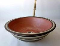 Waschbecken / Rosa/Antik Ø 40 cm Höhe 13,5 cm