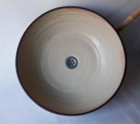 Waschbecken / Elfenbein/Rosa Ø 44 cm Höhe 14 cm
