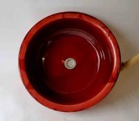 Waschbecken / Rot  Ø 45 cm Höhe 15 cm
