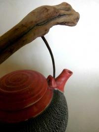 Teekanne / Rot / Struktur / 700ml