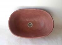 Waschbecken-oval / Terracotta-farben Ø 42/27 cm H 14 cm