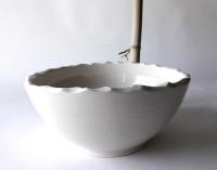 Waschbecken oval/ weiß Ø 30/28 cm 13 cm