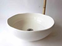 Waschbecken / weiß/creme Ø 40 cm 15 cm